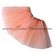 Girls to Plus Size Peach Tutu
