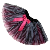SHORT Zebra Hot Pink Tutu BOW