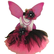 Gothic Spider Fairy Tutu Set Black Hot Pink