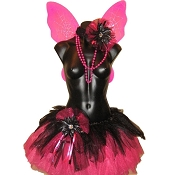 Gothic Teen Fairy Tutu Set Hot Pink