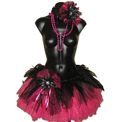 Gothic Teen Tutu Set Hot Pink