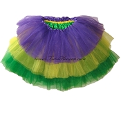 LONG Tiered Mardi Gras Tutu