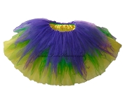 LONG Shredded Mardi Gras Tutu