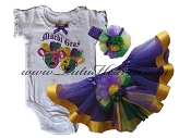 Mardi Gras Infant Jester Tutu Set