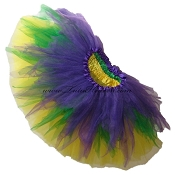 SHORT Shredded Mardi Gras Tutu