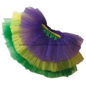 SHORT Tiered Mardi Gras Tutu