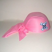 Pirate Skull Cap Pink