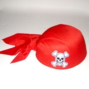 Pirate Skull Cap Red