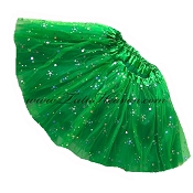 Girls Kelly Green Sequin Tutu