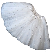 Girls to Plus Size White STAR Sequin Tutu