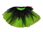 LONG Shredded Black Lime Tutu
