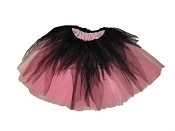 LONG Shredded Black Light Pink Tutu
