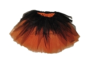 LONG Shredded Black Orange Tutu