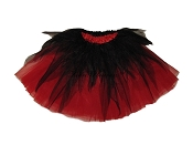 LONG Shredded Black Red Tutu