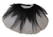 LONG Shredded Black White Tutu