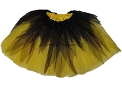 LONG Shredded Black Yellow Tutu