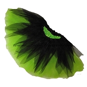 SHORT Shredded Black Lime Tutu