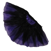 SHORT Shredded Black Purple Tutu