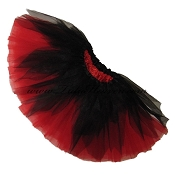 SHORT Shredded Black Red Tutu