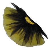 SHORT Shredded Black Yellow Tutu