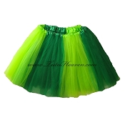 LONG Duo Green St Patricks Day Tutu