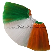SHORT St Patricks Day Flag Tutu