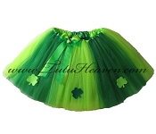 LONG Irish Clover Tutu