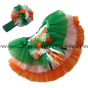 St Patricks Day Flag Tutu Set