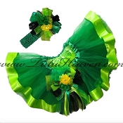St Patricks Day Ribbon Tutu Set