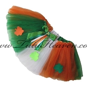 SHORT Irish Flag Tutu SHAMROCKS
