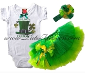St Patricks Day Tutu Set Kiss Me I'm Irish