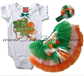 St Patricks Day Tutu Set Irish Clover