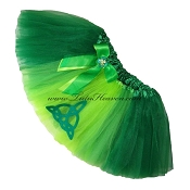 SHORT Green Irish Interlacing Tutu