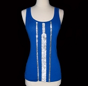 R2D2 Racer Back Tank Top . Royal Blue