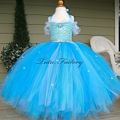 Snow Queen Custom Couture Sequin Tutu Dress
