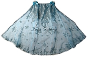 Snow Queen Silver Glitter Snowflake Cape - Short