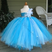 Snow Queen Custom Couture Empire Tutu Dress