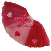 Valentine Tutu Hearts . INFANT to 6X