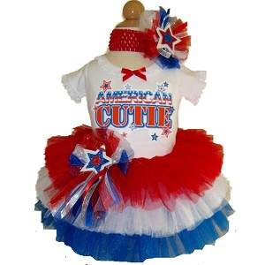 4th of July Tiered Tutu & Top Set  AMERICAN CUTIE