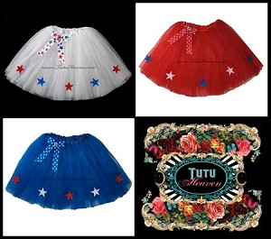 LONG 4th of July Tutus with Stars