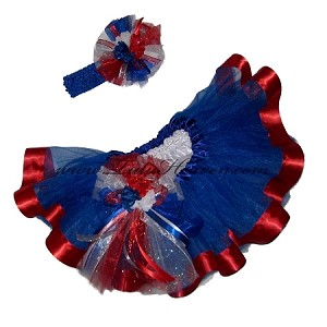 4th of July Red Ribbon Tutu Set