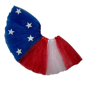 SHORT 4th of July Stars and Stripes Tutu