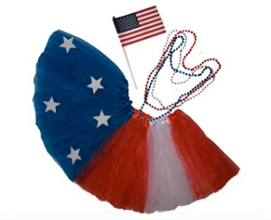 SHORT 4th of July Stars & Stripes Tutu Set