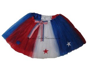 LONG 4th of July Americana Tutu
