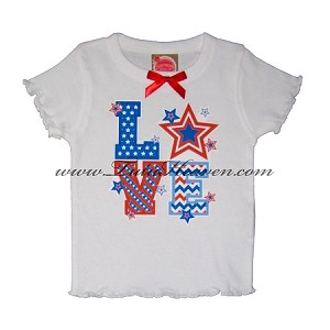 4th of July Toddler Tee LOVE BOX