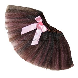 SHORT Cheetah Pink Tutu BOW