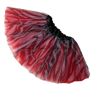 Girls to Plus Size Zebra Red Tutu