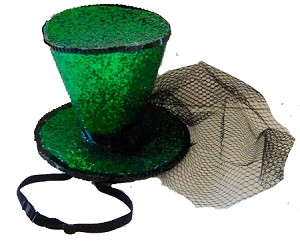Mini Glitter Top Hat St Patricks Day