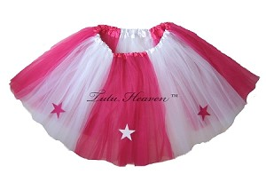 LONG ALLSTAR Tutu White Hot Pink