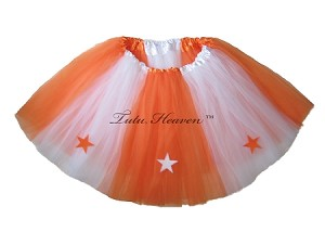 LONG ALLSTAR Tutu White Orange
